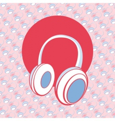 head phones vector image vector image