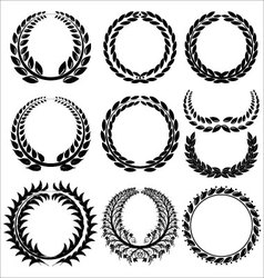 Laurel Wreath set vector image vector image