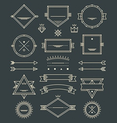 Line badges emblems and design elements vector