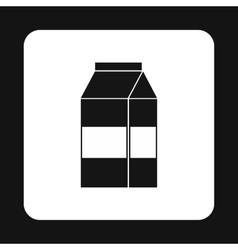 Milk box icon simple style vector image vector image