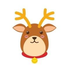 Reindeer xmas cartoon vector