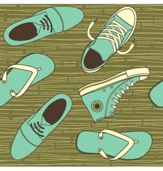 shoe wallpaper vector image