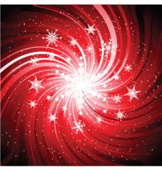 snowflake swirl vector image vector image