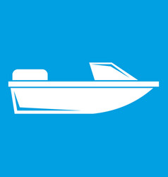 Sports powerboat icon white vector