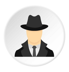 Spy icon circle vector