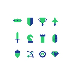 Strategy game icons set vector