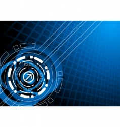 vector abstract tech template vector image vector image
