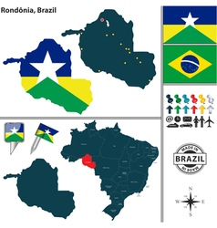 Map of Rondonia vector image
