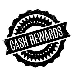 Cash rewards rubber stamp vector