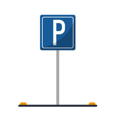 parking sign road street vehicle vector image