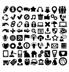 324 web icons vector image vector image