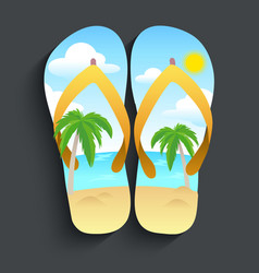 Slippers beach vector
