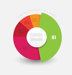 Pie chart in different color pieces measuring vector