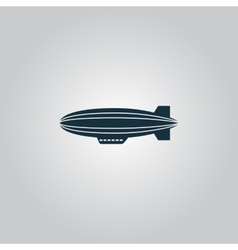 Airship icon vector