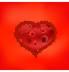 Red stilized heart vector
