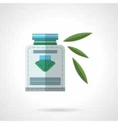 Herbal medicine flat color design icon vector