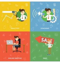 Search analytics training online shopping vector