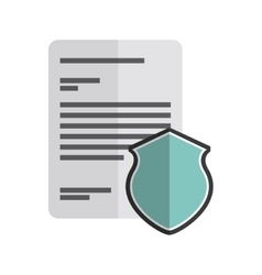 Document and shield icon copyright design vector