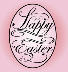 background with lettering on the theme of Easter e vector image