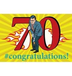 Congratulations 70 anniversary event celebration vector image vector image