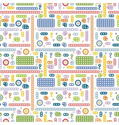 Creative constructor pattern vector image