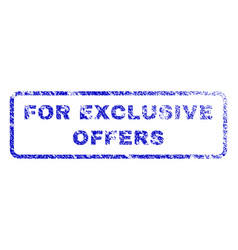 for exclusive offers rubber stamp vector image