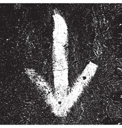 Grunge arrow vector