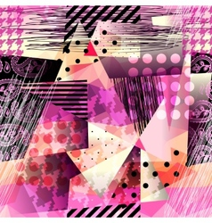 Grunge pattern in cubism style vector