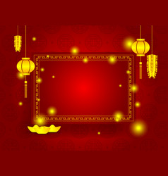 happy chinese new year with copy space on red vector image