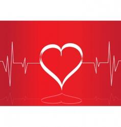 heart monitor vector image vector image