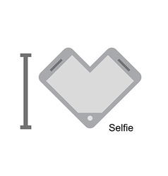 I love selfi phone as a symbol of heart i vector