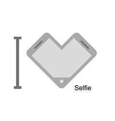 I love selfi Phone as a symbol of heart I vector image vector image