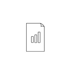 Icon bar graph document file raw simple vector