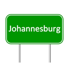 Johannesburg road sign vector