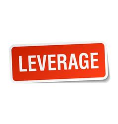 Leverage square sticker on white vector