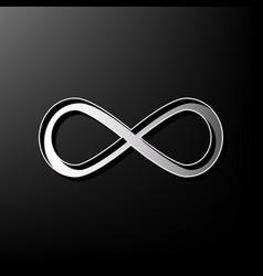 Limitless symbol gray 3d vector