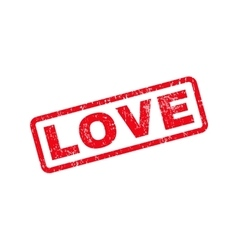 Love text rubber stamp vector