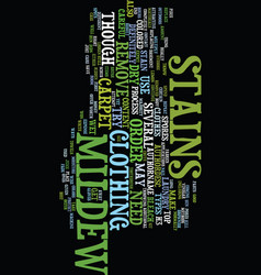 Mildew stains text background word cloud concept vector