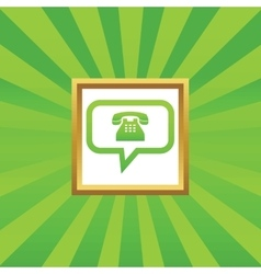 Phone message picture icon vector image