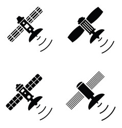 Satellite icon set vector