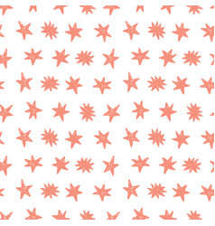 Seamless pattern with birthday stars vector