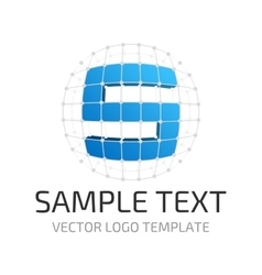 Template logo s vector image vector image