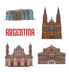 Tourist attractions of Argentina vector image