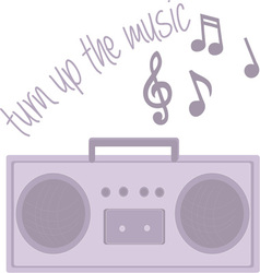 Turn up music vector