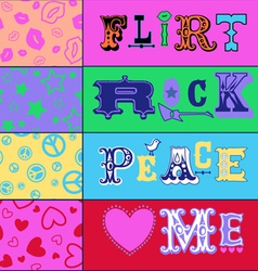 type design vector image