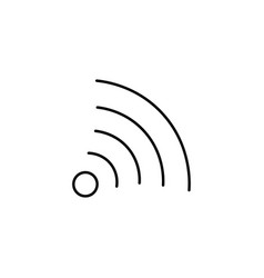 wifi curve sign icon vector image vector image