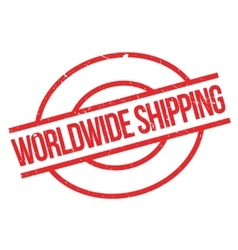 Worldwide shipping rubber stamp vector image vector image
