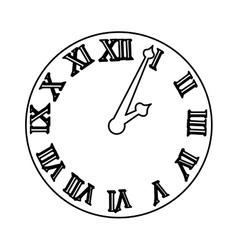 Time clock roman numbers vector