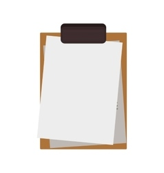 Silhouette with table notepad with sheets vector