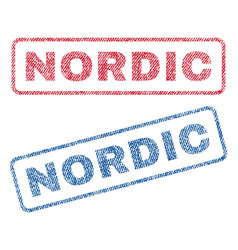 Nordic textile stamps vector